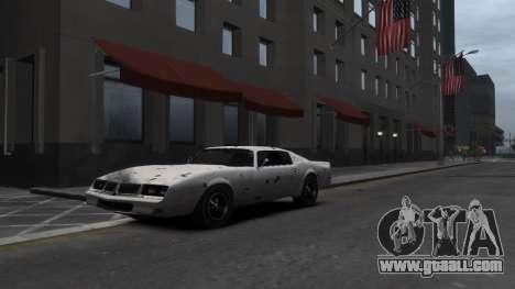 Classic Muscle Phoenix IV for GTA 4 upper view