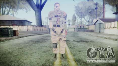 MGSV Phantom Pain Snake Scarf Golden Tiger for GTA San Andreas second screenshot