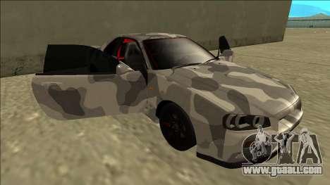 Nissan Skyline R34 Army Drift for GTA San Andreas bottom view