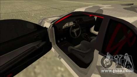 Nissan Skyline R34 Army Drift for GTA San Andreas inner view