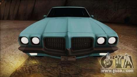 Pontiac Lemans Hardtop Coupe 1971 for GTA San Andreas back view