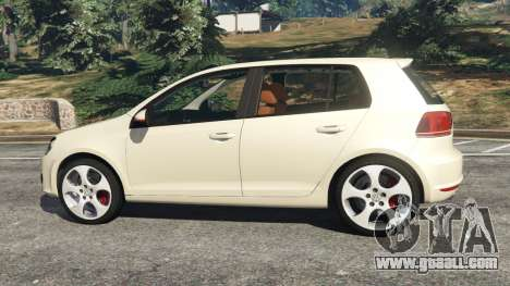 GTA 5 Volkswagen Golf Mk6 v2.0 [Stripes] left side view