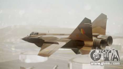 Mikoyan MiG-31 Yuktobanian Air Force for GTA San Andreas left view