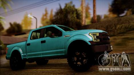 Ford F-150 4x4 2015 for GTA San Andreas back left view