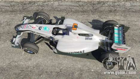 GTA 5 Mercedes-Benz MGP W01 [Michael Schumacher] v1.1 back view