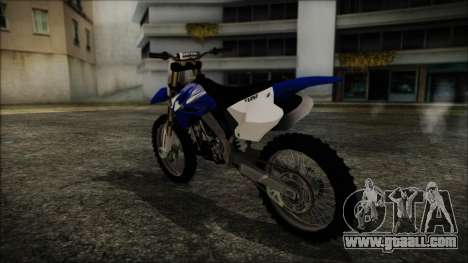 Yamaha YZ250 for GTA San Andreas left view