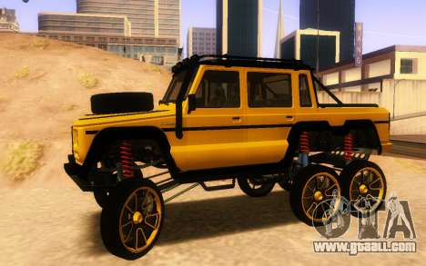 Benefactor Dubsta 6x6 Custom Tuning for GTA San Andreas left view