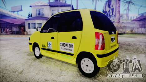 Hyundai Atos Taxi Colombiano for GTA San Andreas left view