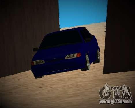 VAZ-2115 for GTA San Andreas bottom view