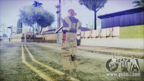 MGSV Phantom Pain Snake Normal Olive Drab for GTA San Andreas third screenshot
