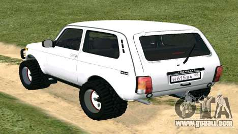 Lada Urban OFF ROAD for GTA San Andreas back left view