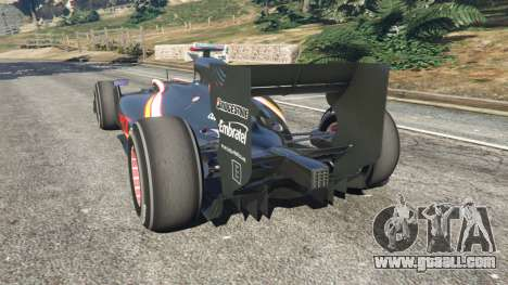 GTA 5 Hispania F110 (HRT F110) v1.1 rear left side view