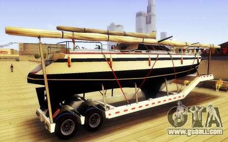 GTA V Big Boat Trailer for GTA San Andreas left view