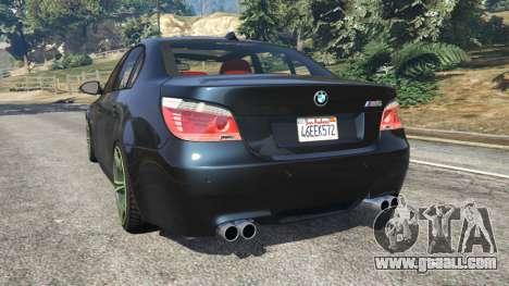 GTA 5 BMW M5 (E60) v1.1 rear left side view