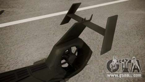 AH-99 Blackfoot for GTA San Andreas back left view
