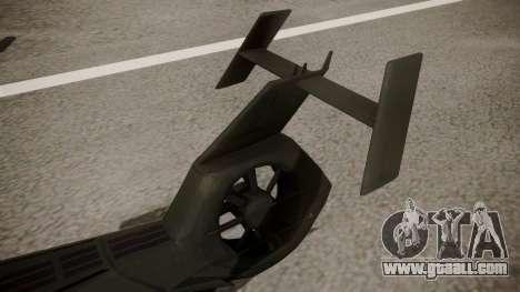 AH-99 Blackfoot for GTA San Andreas back left view