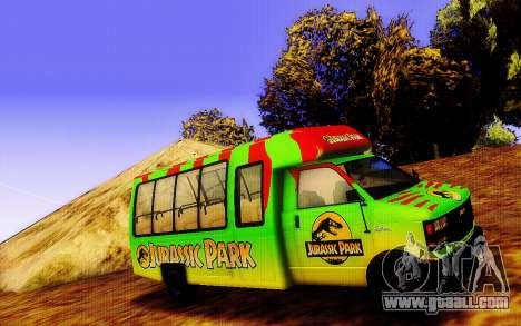 Jurassic Park Tour Bus for GTA San Andreas left view