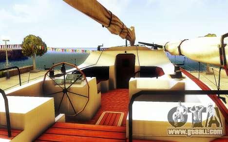 GTA V Big Boat Trailer for GTA San Andreas back view