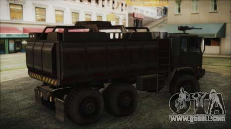 Archer Gun Truck for GTA San Andreas back left view