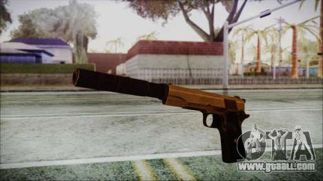 Original Colt 45 Silenced HD for GTA San Andreas second screenshot