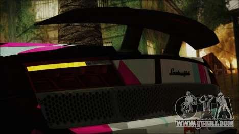 Lamborghini Gallardo LP570-4 2015 Miku Racing 4K for GTA San Andreas inner view
