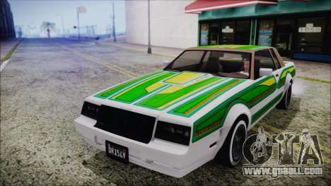 GTA 5 Willard Faction Custom without Extra Int. for GTA San Andreas inner view