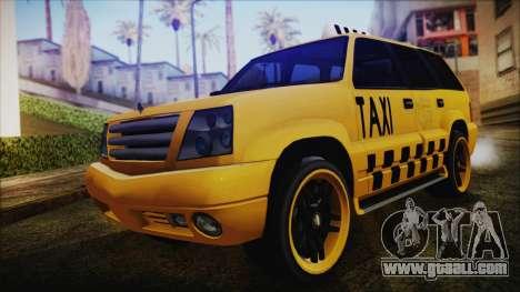 Albany Cavalcade Taxi (Hotwheel Cast Style) for GTA San Andreas