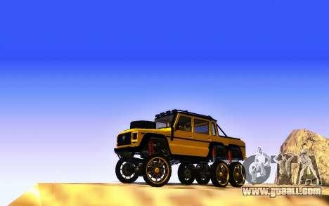 Benefactor Dubsta 6x6 Custom Tuning for GTA San Andreas back view