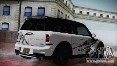 Mini Cooper Clubman 2011 Itasha for GTA San Andreas left view