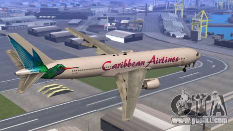Boeing 767-300 Caribbean Airlines for GTA San Andreas left view