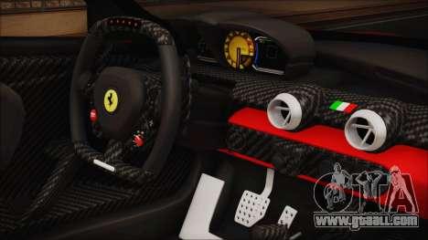 Ferrari FXX K 2016 v1.1 [HQ] for GTA San Andreas right view