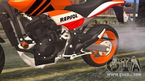 Honda Hornet Repsol 2010 for GTA San Andreas right view