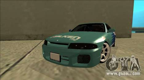 Nissan Skyline R33 Drift Falken for GTA San Andreas back left view