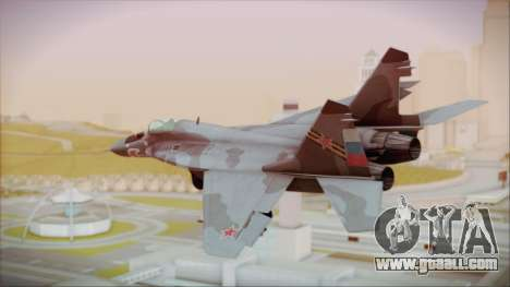 Mikoyan-Gurevich MIG-29A Russian Air Force for GTA San Andreas left view