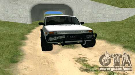 Lada Urban OFF ROAD for GTA San Andreas back view