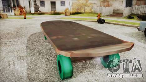 Giant Skateboard for GTA San Andreas left view