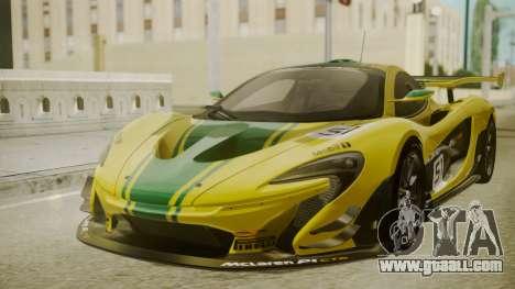 McLaren P1 GTR 2015 Yellow-Green Livery for GTA San Andreas