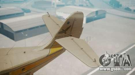 Grumman G-21 Goose WhiteYellow for GTA San Andreas back left view