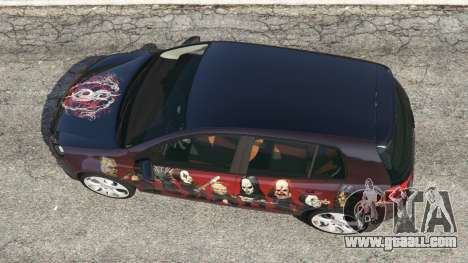 GTA 5 Volkswagen Golf Mk6 v2.0 [Slipknot] back view