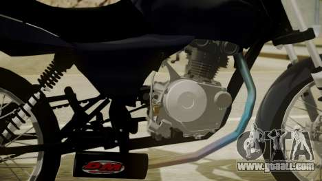 Honda Titan CG150 Stunt for GTA San Andreas back left view