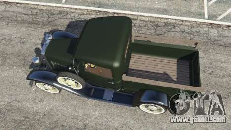 GTA 5 Ford Model A Pick-up 1930 back view