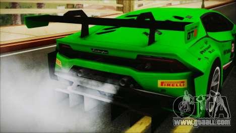 Lamborghini Huracan 610-4 GT3 2015 for GTA San Andreas back view