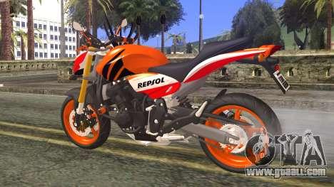 Honda Hornet Repsol 2010 for GTA San Andreas left view