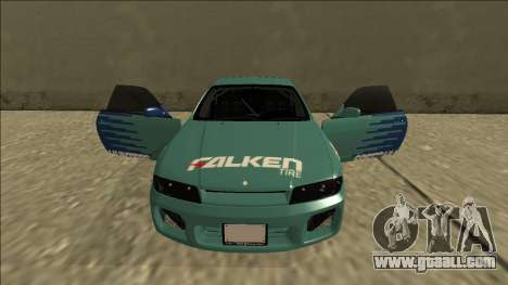 Nissan Skyline R33 Drift Falken for GTA San Andreas upper view