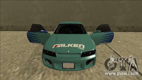 Nissan Skyline R33 Drift Falken for GTA San Andreas upper view