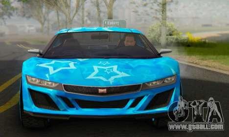Dinka Jester (GTA V) Blue Star Edition for GTA San Andreas