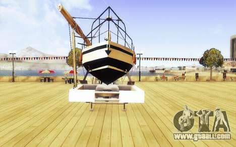 GTA V Big Boat Trailer for GTA San Andreas right view