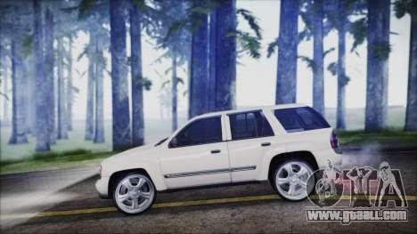 Chevrolet Triblazer for GTA San Andreas back left view
