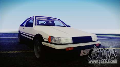 Toyota AE86 for GTA San Andreas right view