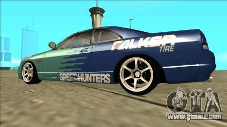 Nissan Skyline R33 Drift Falken for GTA San Andreas left view